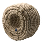 Bannister Rope Poly-Hemp 36mm 55m Brown