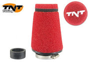 TNT Air filter, Speed, Red, Attachment Ø 28/35mm, Straight