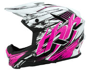 Snow People Helmet T-42 Junior Vit/Rosa (Not ECE Approved)
