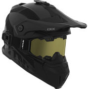 CKX Helmet Titan Solid Black with matt goggle