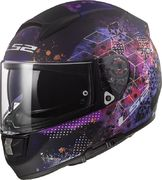 LS2 Helmet FF397 Vector FT2 Cosmos Matt Black/Pink