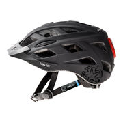 Cycle helmet TIMELESS Fox, black/grey L, 58-61, light and adjusting headband
