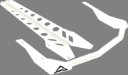 Skinz Rear Bumper White Ski Doo 850 Rev 146