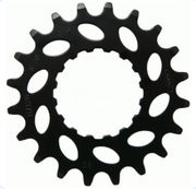 Chain sprocket KMC, E-bike Bosch, front, 18h, black, 11/128""