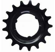 Chain sprocket KMC, E-bike Shimano 17h, rear, black, 3/32""