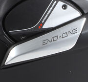 Shark Evo-One decorative panels i chin part, aluminium, pair