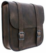 PRE-ORDER PRODUCT Swingarm Bag Straight Softail Brown