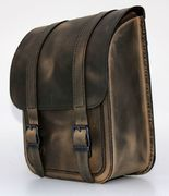 PRE-ORDER PRODUCT Swingarm Bag Straight Smart Softail Brown