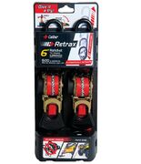 Caliber Retrax 6' Self rewind tiedown strap kit (2pc)