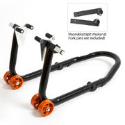 Front stand SMI3035, black color, orange wheels