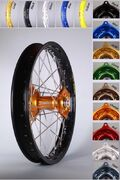 PRE-ORDER PRODUCT TALON Rear Wheel 18x2 15 EXCEL KX/KXF 03-,RMZ250 -06 gold/silver