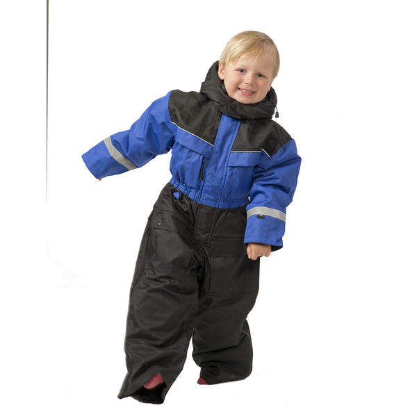 SnowPeople Safari kids overall blue/black